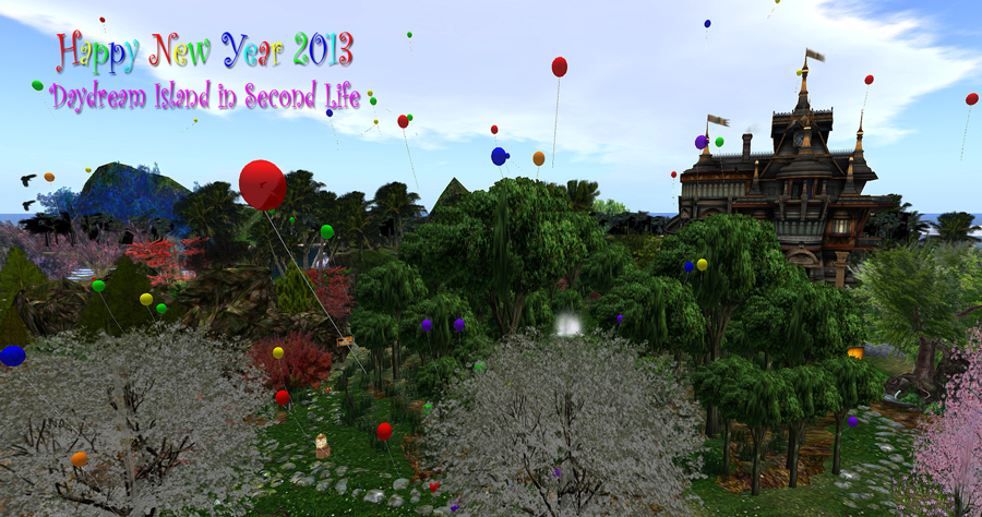 Daydream Island, Second Life, Carmsie Melodie, 2013, new year