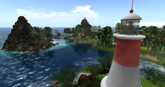 Daydream Island in Second Life, virtual romance